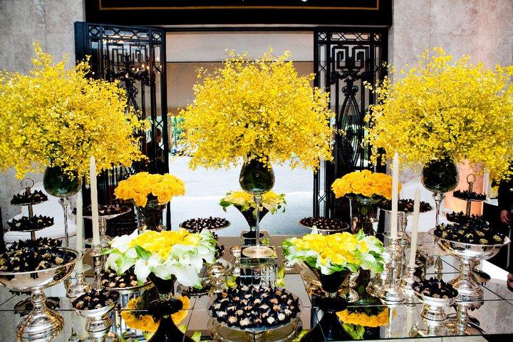 decoracao azul e amarelo noivado:amarelo e preto