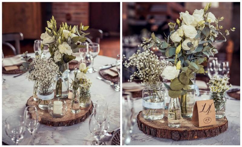Centro de mesa casamento rustico dois cora es - Centro de mesa rustico ...